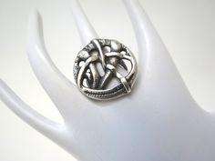 Anello tondo in argento brunito di Loreart su DaWanda.com