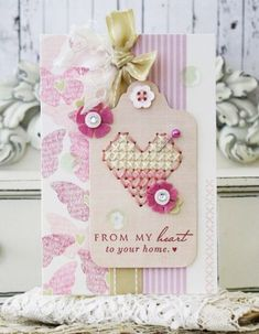 Love Lives Here Revisited: From My Heart Card by Melissa Phillips for Papertrey Ink (January 2015)