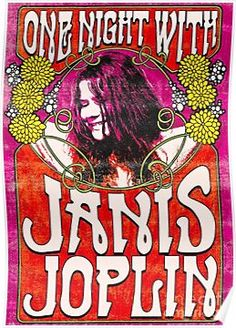 Gatsbe Exchange Made in USA not China - ONE Night with Janis Joplin Musician Concert Poster Rock and Roll Legends Live Forever 12 X 18 Poster Retro, Vintage Concert Posters, Vintage Posters, Poster Poster, Janis Joplin, Rock And Roll, Rock Posters, Band Posters, Woodstock