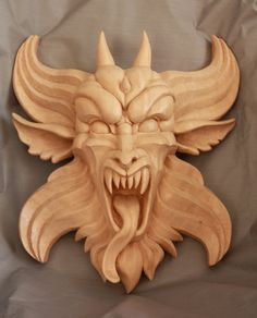 Wood Carved Gargoyle by mouser00