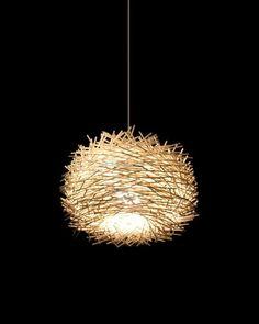 DIY LAMPEN SELBER machen lampe diy lampenschirme selber machen vogelnest rattan