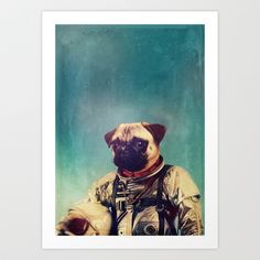 A Point To Prove Art Print by Rubbishmonkey - $16.00