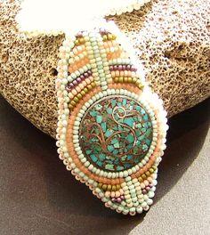 Beaded Earrings Vintage Sterling Native by LisaPierceJewelry, $99.00