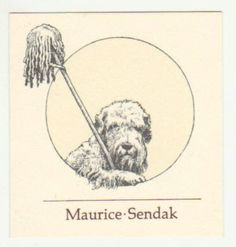Maurice Sendak's bookplate features Jennie his Sealyham Terrier who was also the star in his book Higgledy , Piggledy, Pop