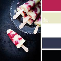 blanco y rojo, color frambuesa, color helado de fresa, color helado de guinda, colores de la confitura de frambuesa, colores para el día de San Valentín, colores para una velada de San Valentín, gris, gris grafito, gris oscuro, negro, negro y rojo.