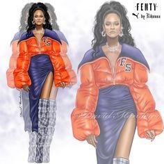 Rihanna Fenty X Puma #digitaldrawing by David Mandeiro Illustrations #digitalartists #digitalart #Rihanna #Badgalriri #Fentyxpuma
