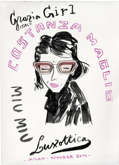 MALE: GRAZIA GIRLS TESTING EYEWEAR