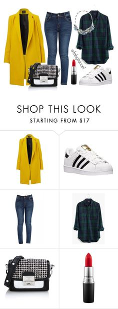 """#OutfitoftheWeek: just chill"" by fabglance ❤ liked on Polyvore featuring adidas, Madewell, Karl Lagerfeld, MAC Cosmetics, ootd and weekend"
