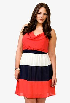 Colorblocked Y-Back Dress | FOREVER21 PLUS - 2021839470