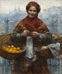 Aleksander Gierymski, Żydówka z pomarańczami, 1881