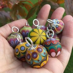 Bobble teaser - need their proper grown up photo shoot and will be for sale next week. #lampwork #handmade #artglass #jewellery #necklace #glass