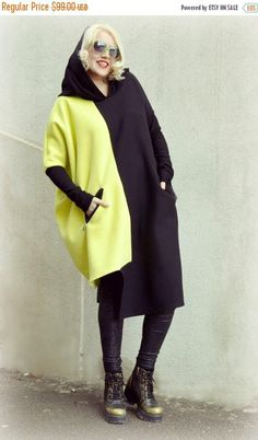 Check out this item in my Etsy shop https://www.etsy.com/listing/268554714/sale-black-and-yellow-sweatshirt