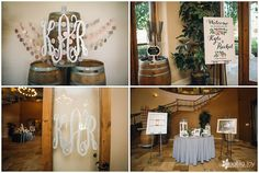 Wedding: Kyle & Rachel // Wilson Creek Winery, Temecula, CA» Analisa Joy Photography // loved the monogram reception details!