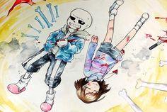 Genocide! Sans and Genocide! Frisk | Artist RyuO