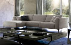 Dudy Sectional by Chateau D'ax, Italy. Shown in fabric. Visit website for customization options.
