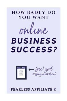 Do you want online business success? by Fearless Affiliate. Make sure that your business succeeds by avoiding these 5 mistakes that cause business failure. Get started right the first time. #success #bloggingtips
