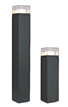Wegeleuchte, 4x1W COB LED, 3000K, dunkelgrau, 50cm, Lofti LED 50 10379