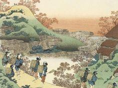 Women Returning Home at Sunset, Hokusai