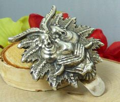 Vintage Cast Coin Silver 'Dragon's Head' Money Clip; Amazing Detail!! #Unbranded
