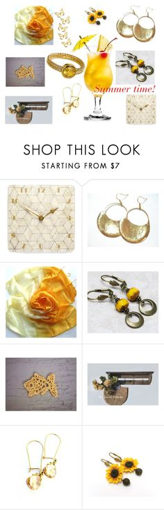 """""""Summer time!"""" by stavrosdragatakis on Polyvore featuring Cadeau, dragatakisjewelry and etsyevolution"""