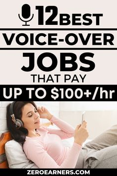 Want to work as a voice-over artist? Yes? Here are some of the best voice-over jobs that pay well. #voiceoverjobs #voiceoverartists #voiceover #booknarrators #makemoneyonline #freelancejobs #parttimejobs #sidehustles #extramoney #career #audiobooknarrator