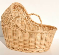"""Details about NEW Willow Wicker Bassinet Basket Baby Shower Gift 12"""""""