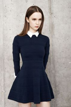 Women's fashion | Cute navy little spring dress