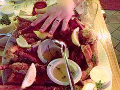 Seafood platter on City Island