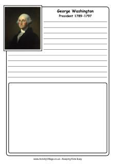 George Washington notebooking page