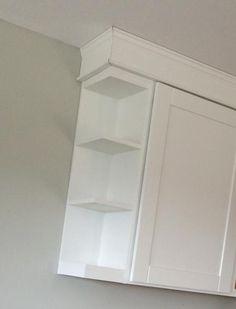 Open Shelf End Wall Cabinet