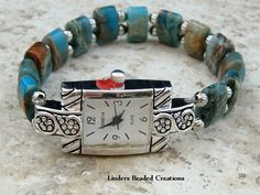 Stretch Beaded Watch Band by LindersCreations on Etsy, $23.00