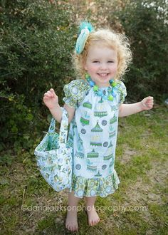Girls peasant dress and purse pattern from Create Kids Couture, Free