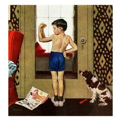"""""""Young Charles Atlas"""", November 29, 1952 George Hughes. My teenie league baseball team was the """"Acme Termites"""" and I had a red ballcap with the letters """"AT"""" on it.  My buddies, nicknamed me """"ATLAS"""" I weighed about 55 pounds soaking wet."""