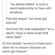 Terribly weird relationships