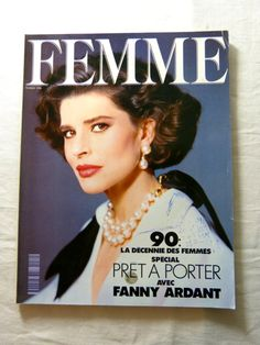 FEMME womens fashion magazine - February 1990 ready-to-wear & Fanny Ardant special - French 90s vintage French high fashion magazine including editorials & ads, this is a special ready-to-wear issue published in February 1990 by Filipacchi / COGEDIPRESSE editions, written in French the second picture is of the back page, circa 170 pages, the magazine is complete one round stain & some pen writing on the front page, some traces of use on the covers good condition  length circ...