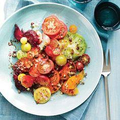 Fresh Tomato Recipes: Heirloom Tomato and Beet Salad | CookingLight.com