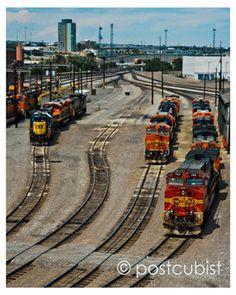 Denver Train Yard 8 x 10 photograph
