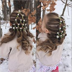 Elastic Christmas tree hairstyle with twist in hair jewels