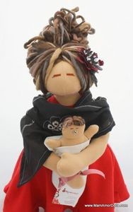 {Image of Birthing and Breastfeeding MamAmor doll - NORA}