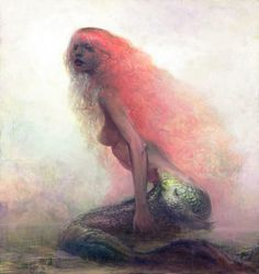 Mermaid by ~hoooook. Fact: 89% of Mermaids are in fact redheads who for some reason lack access to a comb or some headbands or something...the others always seem well-groomed; we look a hot mess!