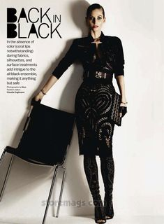 Alberta Ferretti jacket and skirt, Elle Magazine May 2012.