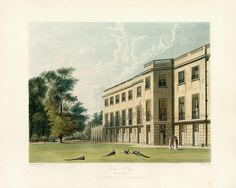 Carlton House, South Front, by William Westall, 1819 - royal coll 922169 313726 ORI Architecture Plan, Beautiful Architecture, Carlton House, Henry Holland, Royal Residence, Kingdom Of Great Britain, Windsor Castle, London Art, English Countryside