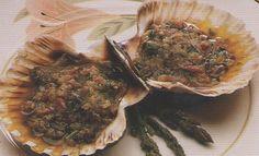 Vieiras al horno: un primer plato muy sencillo, ideal para un menú de fiesta. Dieta Dukan, fase Ataque.