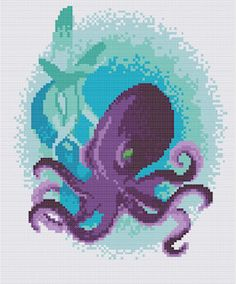 This is a PDF pattern of a lovely colored octopus. Files will be available once the payment is confirmed.  The PDF cross stitch pattern includes: