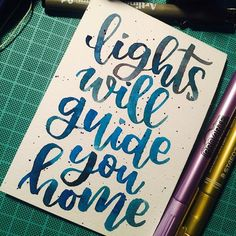 Watercolor Calligraphy Alphabet, Calligraphy Doodles, Watercolor Lettering, Calligraphy Letters, Brush Lettering, Watercolour, Drawing Quotes, Painting Quotes, Coldplay Quotes