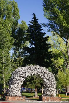 Antler Arch in downtown Jackson Hole, Wyoming