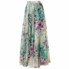 Flaunt your feminine appeal with this lovely skirts. Features elastic waistband, pleated design, loose silhouette and lovely floral print. Crafted from polyester and chiffon material. Perfect with any