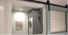 When you have six kids and a tiny laundry room, you need some pretty nifty tricks to keep your household in order. Here's how one genius mom cracked the code. When you have six kids and a tiny laundry room, you need some pretty nifty trick Large Laundry Rooms, Laundry Room Organization, Small Laundry, Laundry Room Design, Organization Hacks, Organizing Tips, Compact Laundry, Laundry Storage, Small Space Organization