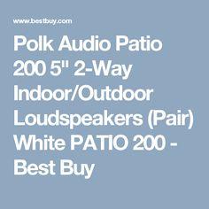 "Polk Audio Patio 200 5"" 2-Way Indoor/Outdoor Loudspeakers (Pair) White PATIO 200 - Best Buy"