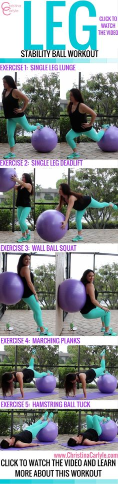 Lower Body Stability Ball Workout